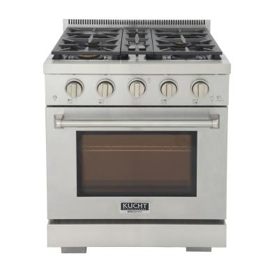 Professional 30 in. 4.2 cu. ft. Natural Gas Range with Power Burner and Convection Oven in Stainless Steel