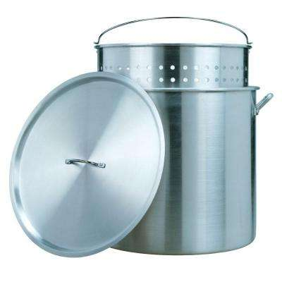80 Qt. Aluminum Stock Pot and Strainer Set