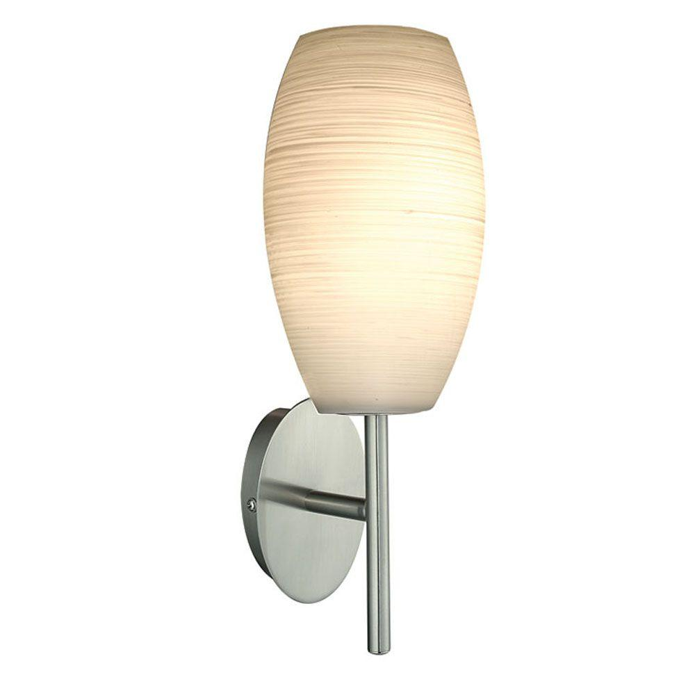 Batista 1-Light Matte Nickel Wall Light