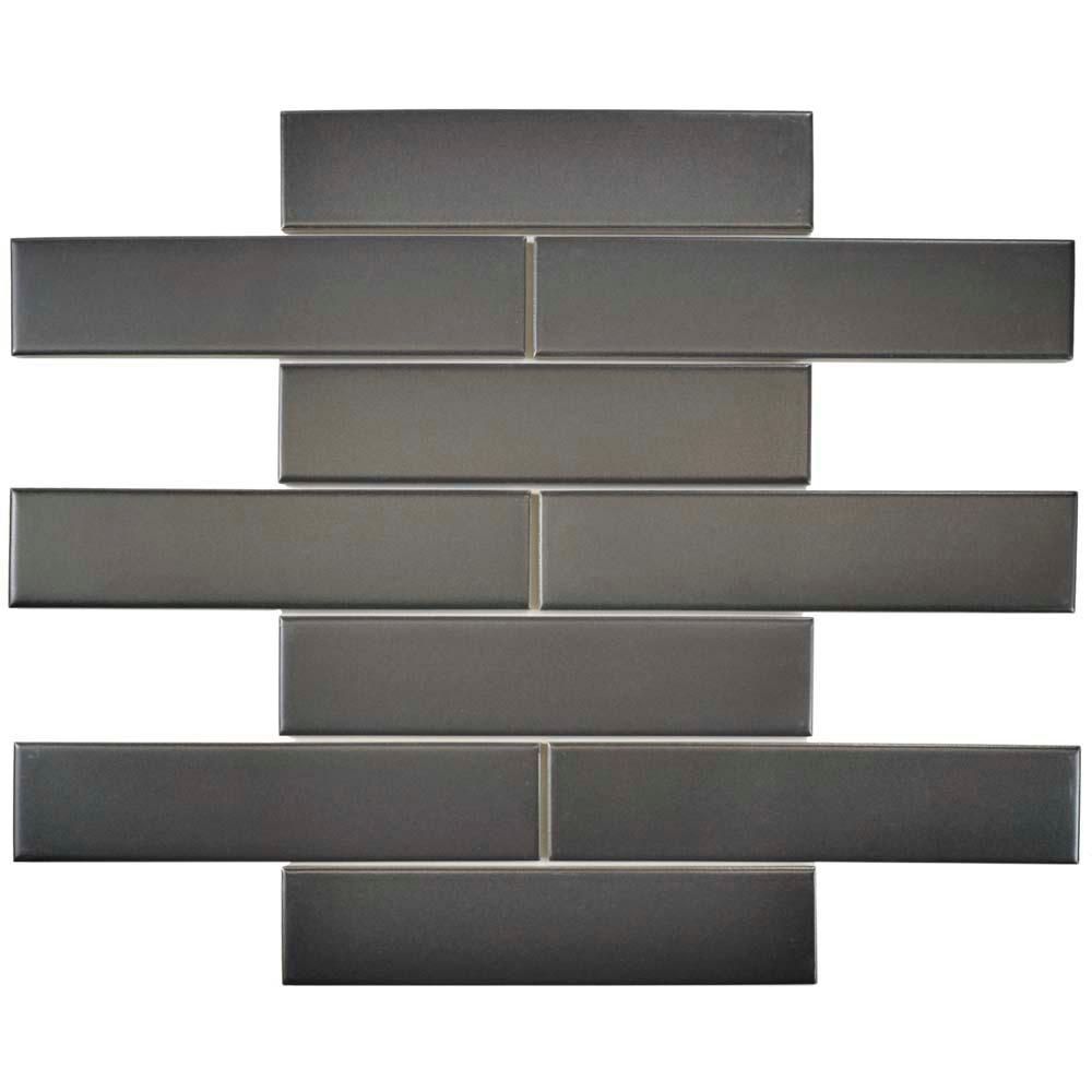 Merola Tile Metro Soho Subway Matte Grey 1-3/4 in. x 7-3/...