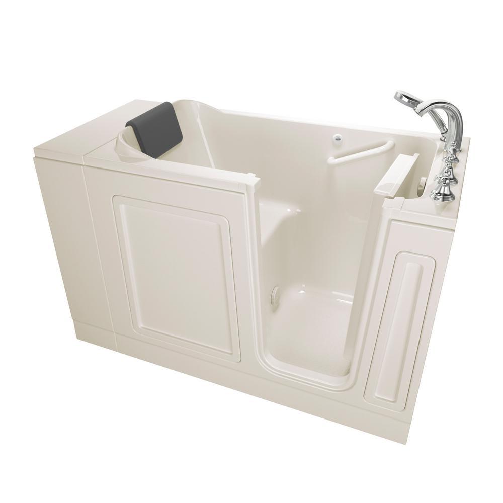 Acrylic Luxury Series 4 ft. Walk-In Soaking Tub in Linen