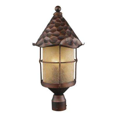 Rustica 3-Light Outdoor Antique Copper Post Light