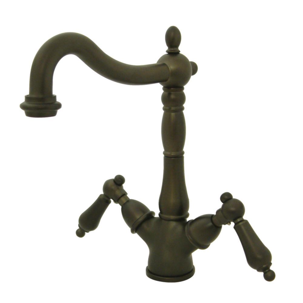 Heritage Single Hole 2-Handle Vessel Bathroom Faucet in Oil Rubbed Bronze