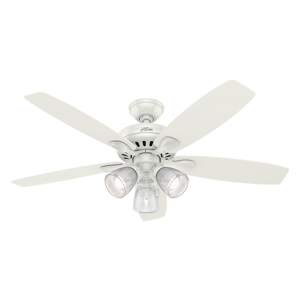 Highbury II 52 in. LED Indoor Fresh White Ceiling Fan