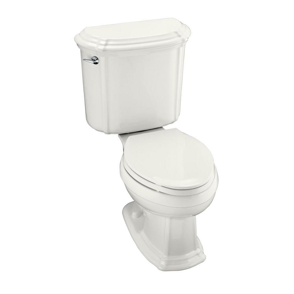 KOHLER Portrait 2-piece 1.6 GPF Single Flush Elongated Toilet in White
