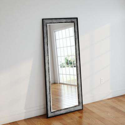 31.5 in. x 72 in. Sterling Charcoal Beveled Oversized Full Body Mirror