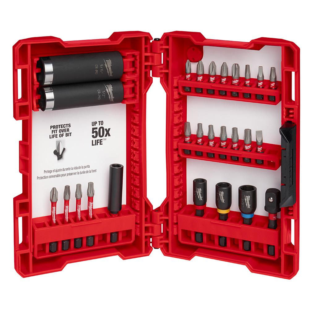 15 Piece Driving Drill Set Precise Fit MILWAUKEE Impact Duty Steel Driver Bits
