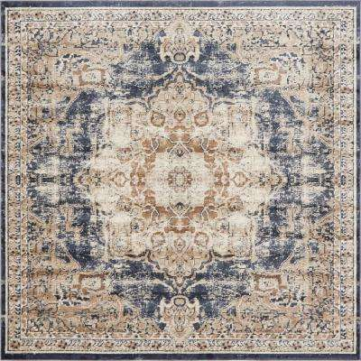 7 X 7 Overdyed Square Area Rugs Rugs The Home Depot