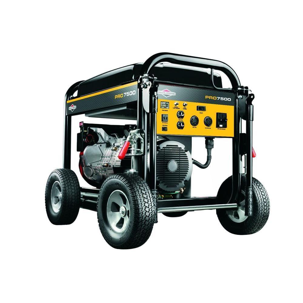 Briggs & Stratton Pro Series 7500-Watt Gasoline Powered Portable Generator
