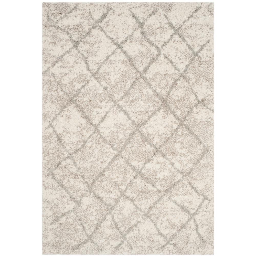 Safavieh Berber Shag Creamlight Gray 8 Ft X 10 Ft Area Rug