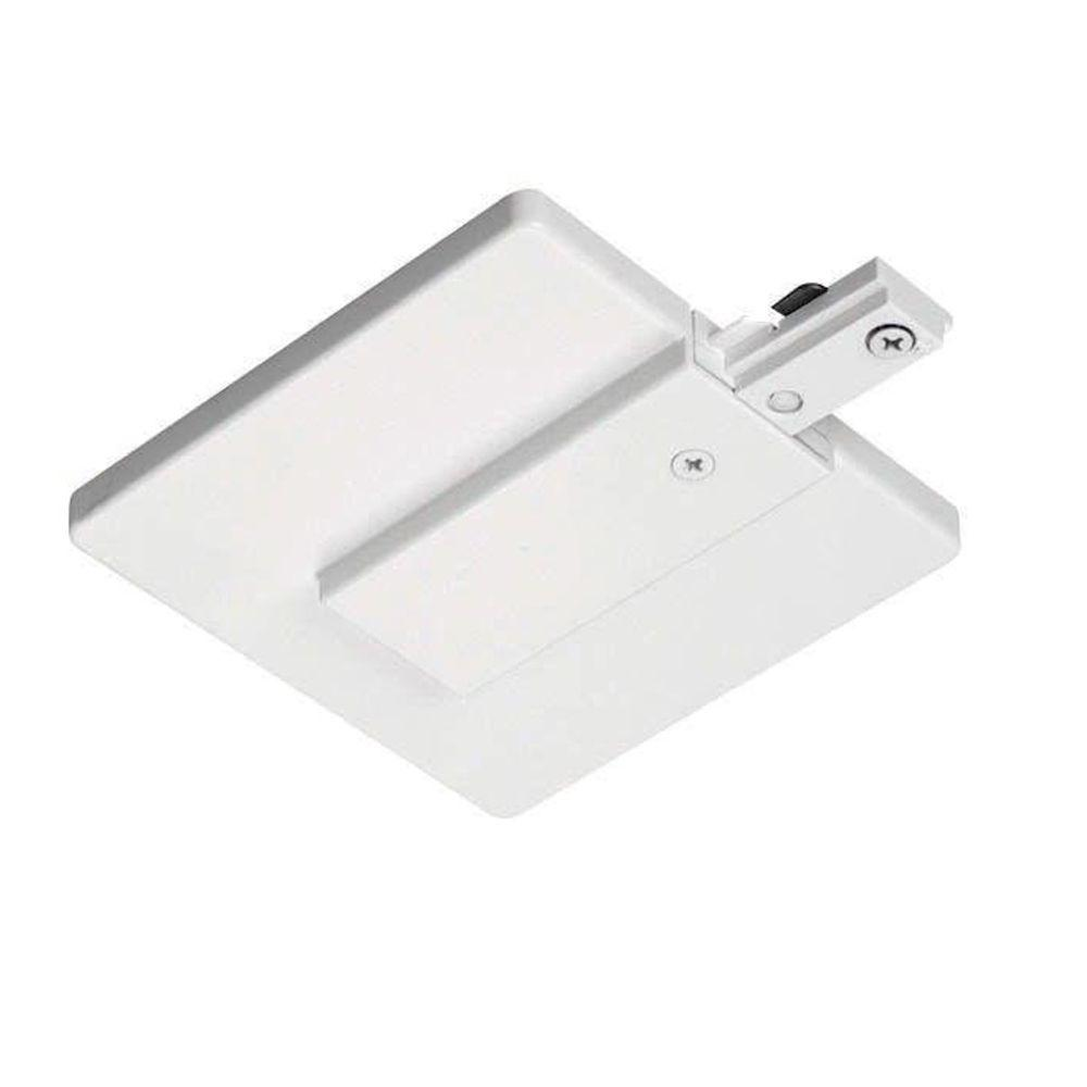 Juno Trac-Lites White J-Box Feed Connector with Cover