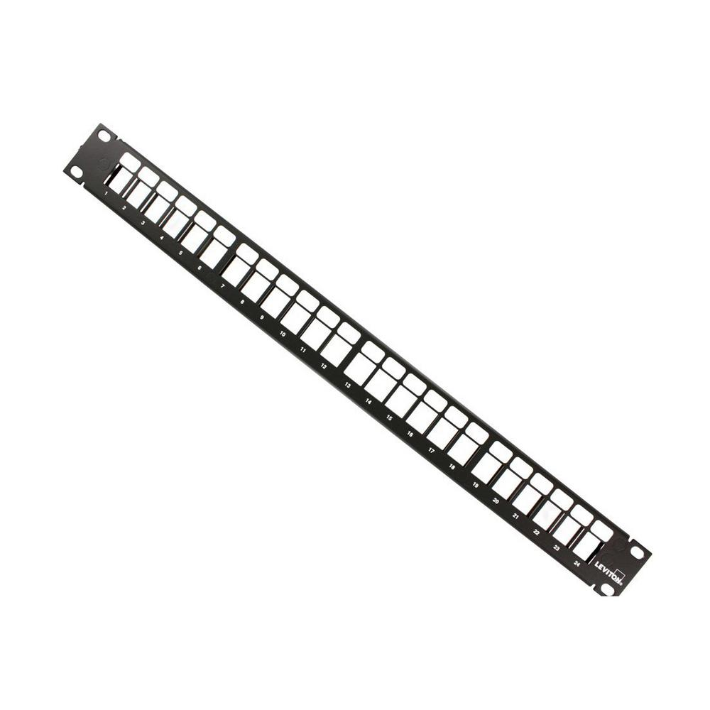 24-Port QuickPort 1RU Patch Panel Cable Management Bar, Black