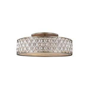 Lucia 30 in. W. 6-Light Burnished Silver Ceiling Fixture