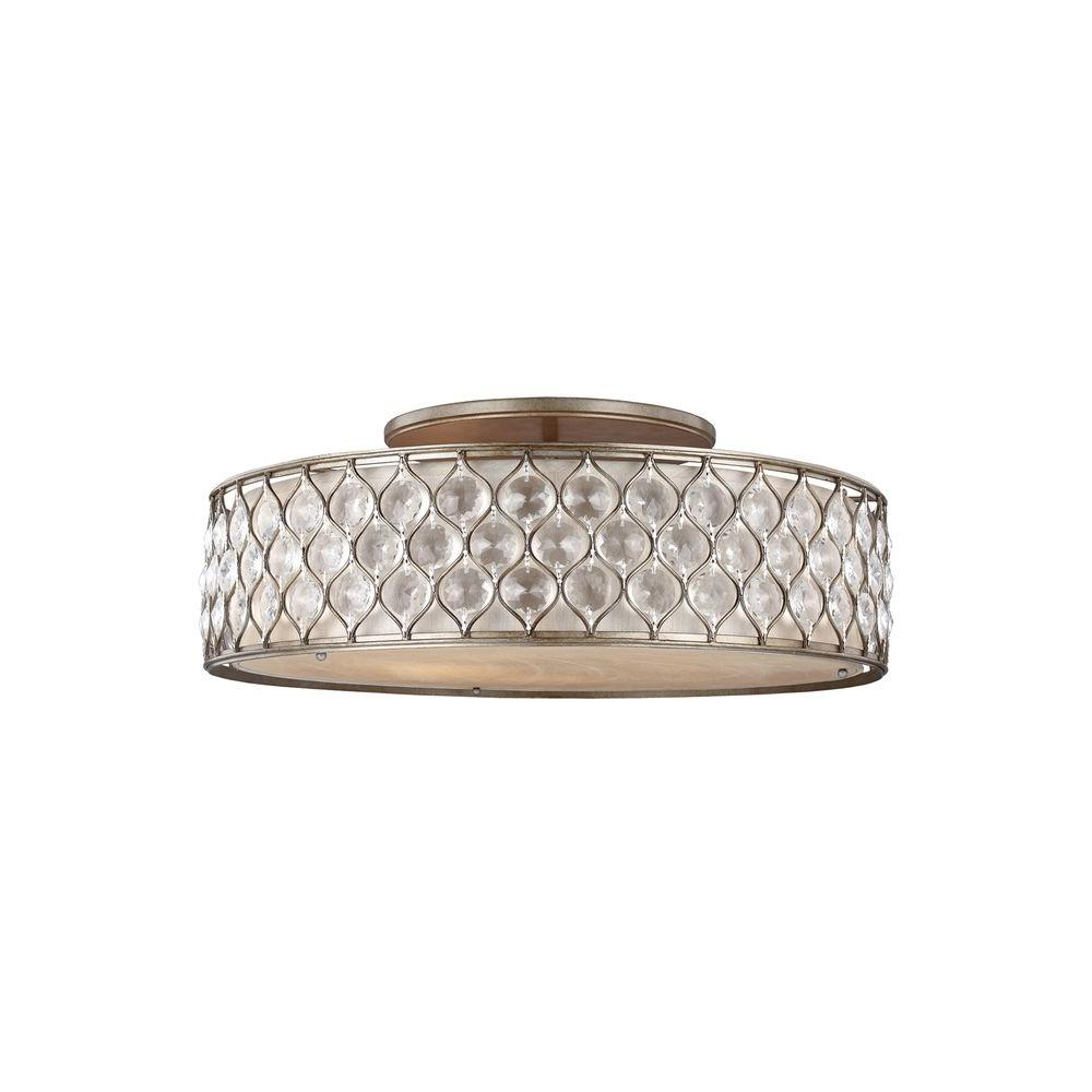 Lucia 6-Light Burnished Silver Ceiling Fixture