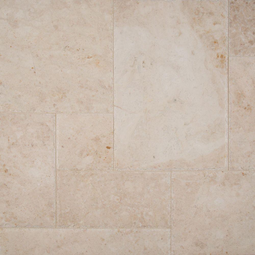 Cappuccino Pattern Honed-Chipped-Brushed Marble Floor and Wall Tile (10 kits /