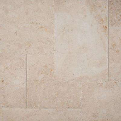 Cappuccino Pattern Honed-Chipped-Brushed Marble Floor and Wall Tile (10 kits / 80 sq. ft. / pallet)