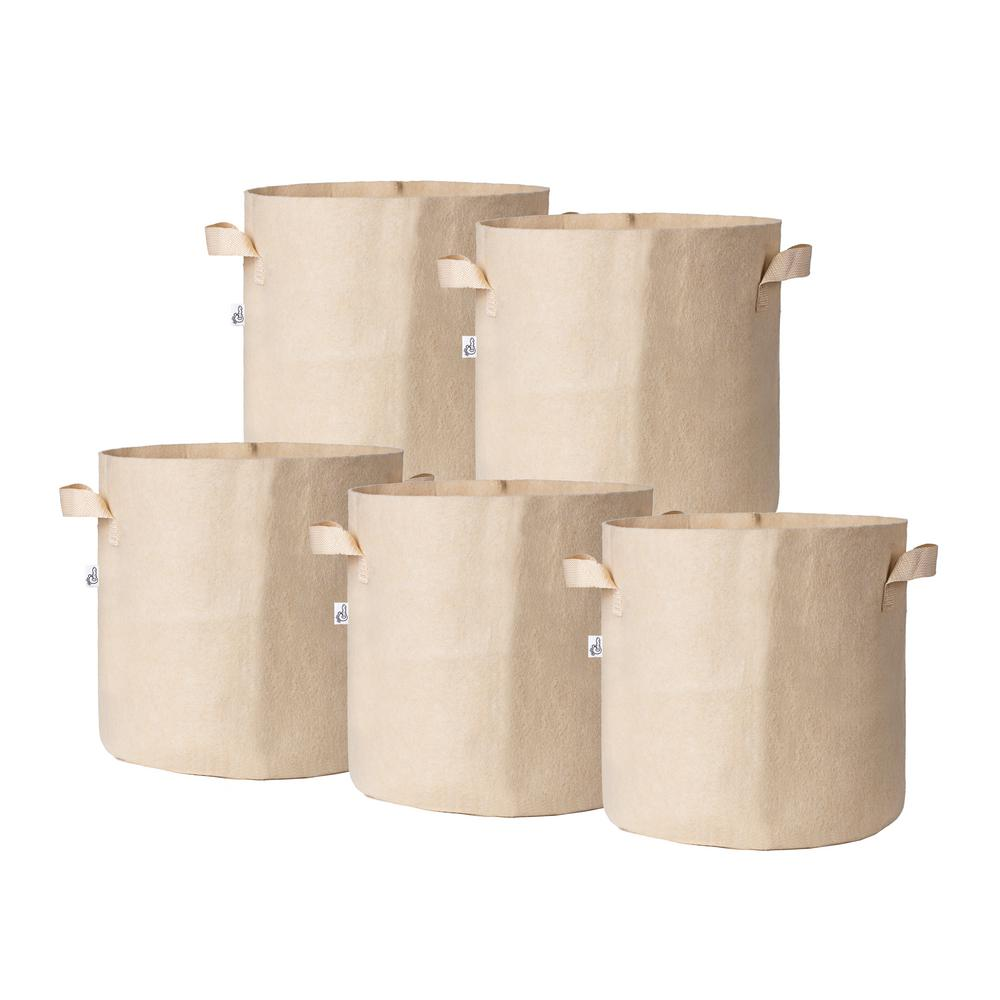 14.5 in. x 13 in. 10 Gal. Breathable Fabric Pot Bags