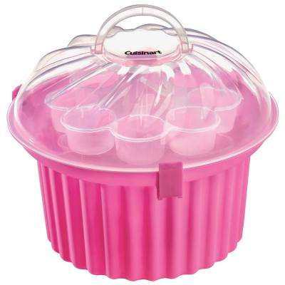 Pink Cupcake-Shaped Cupcake Carrier
