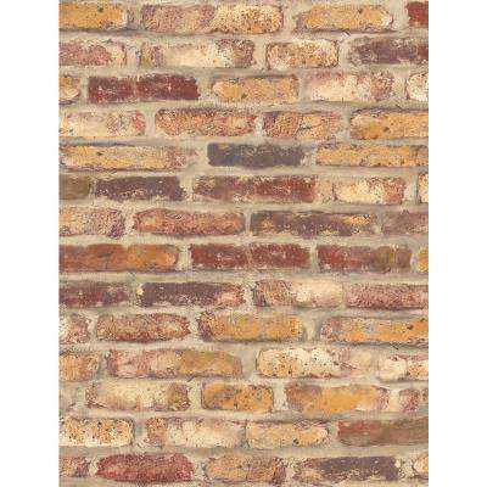 Rustic Faux Brick Vinyl Peelable Wallpaper (Covers 30.75 sq. ft.)