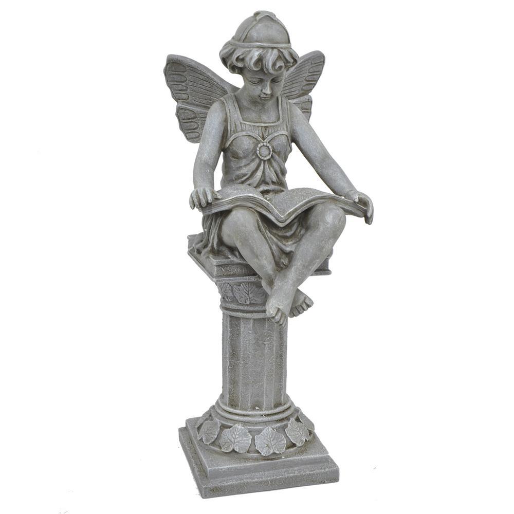 Fairy On Pedestal Reading Book