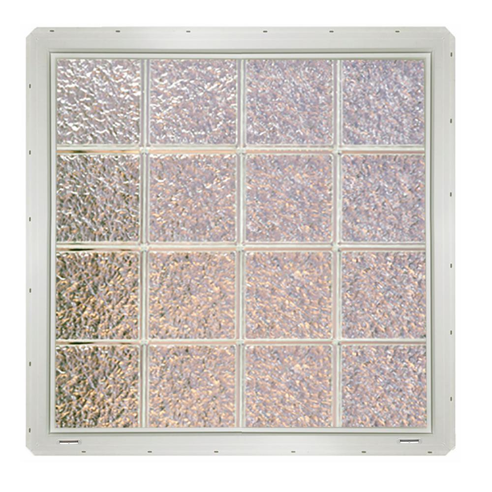 31.75 in. x 31.75 in. x 3.25 in. Ice Pattern Glass