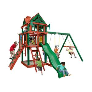 Gorilla Playsets Five Star II Cedar Swing Set with Monkey Bars and Timber... by Gorilla Playsets