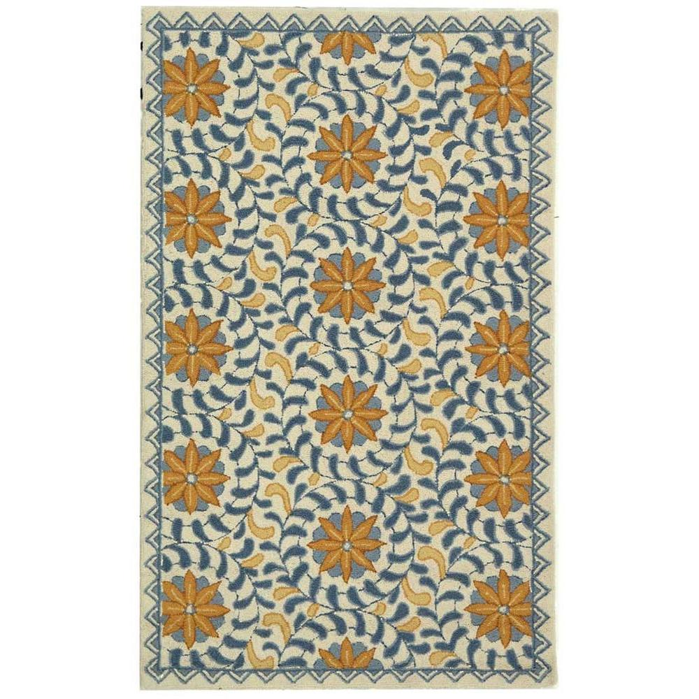 Safavieh Chelsea Ivory/Blue 2 ft. 9 in. x 4 ft. 9 in. Area Rug