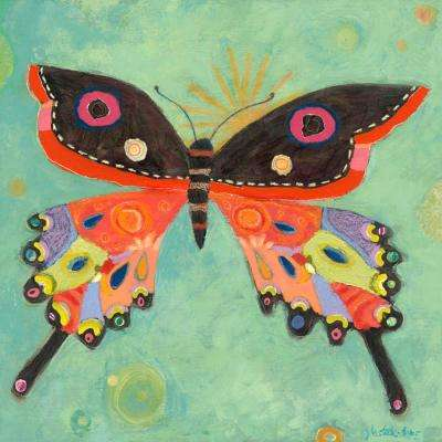 "21 in. x 21 in. ""Green Peace Butterfly"" by Jenny Kostecki-Shaw Printed Canvas Wall Art"