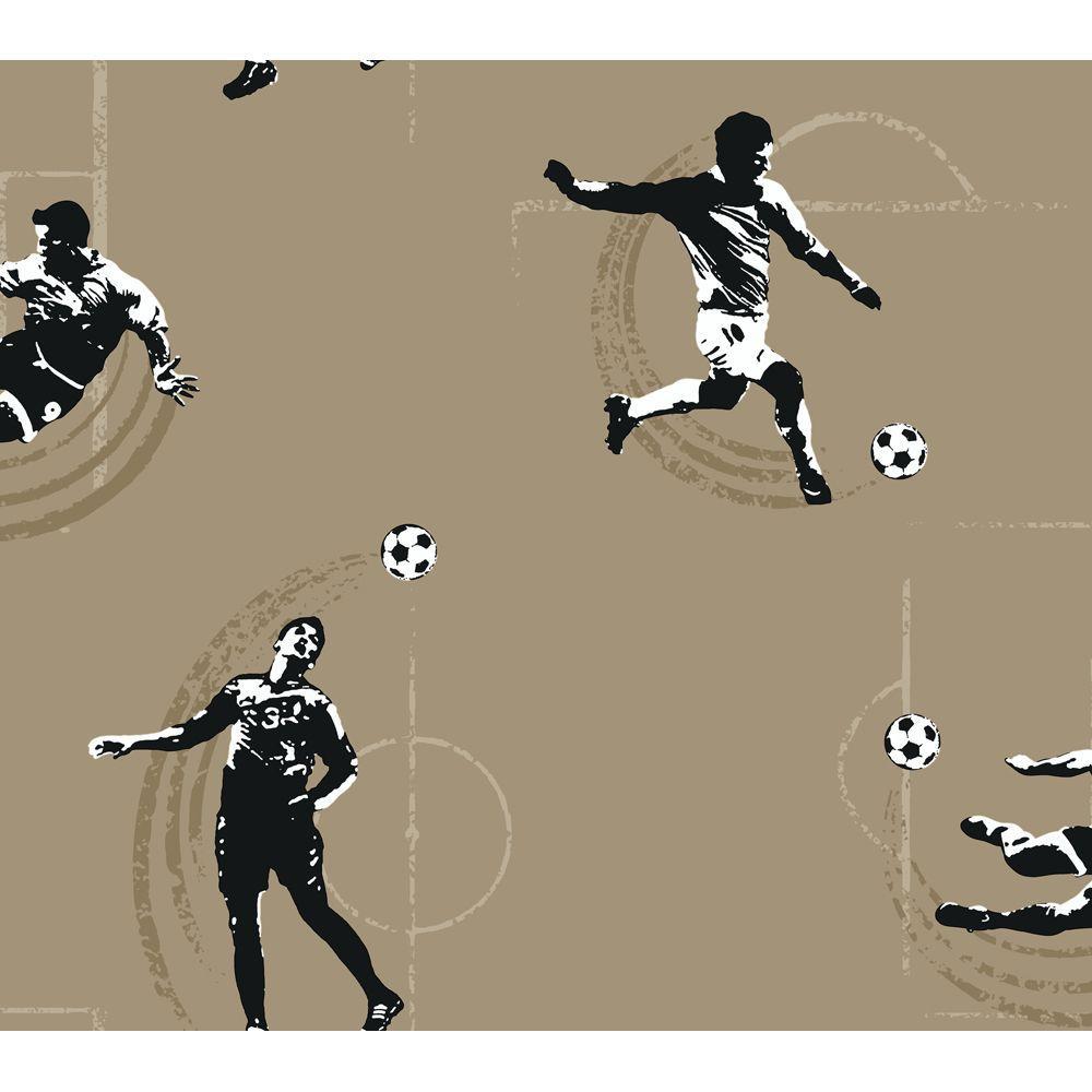 York Wallcoverings 60.75 sq. ft. Soccer Wallpaper