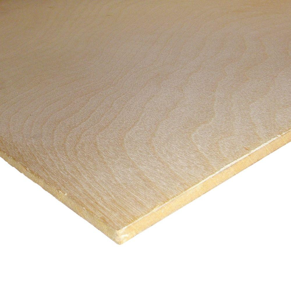 Birch Plywood (Common: 1/4 In. X 2 Ft. X 4 Ft.; Actual: 0