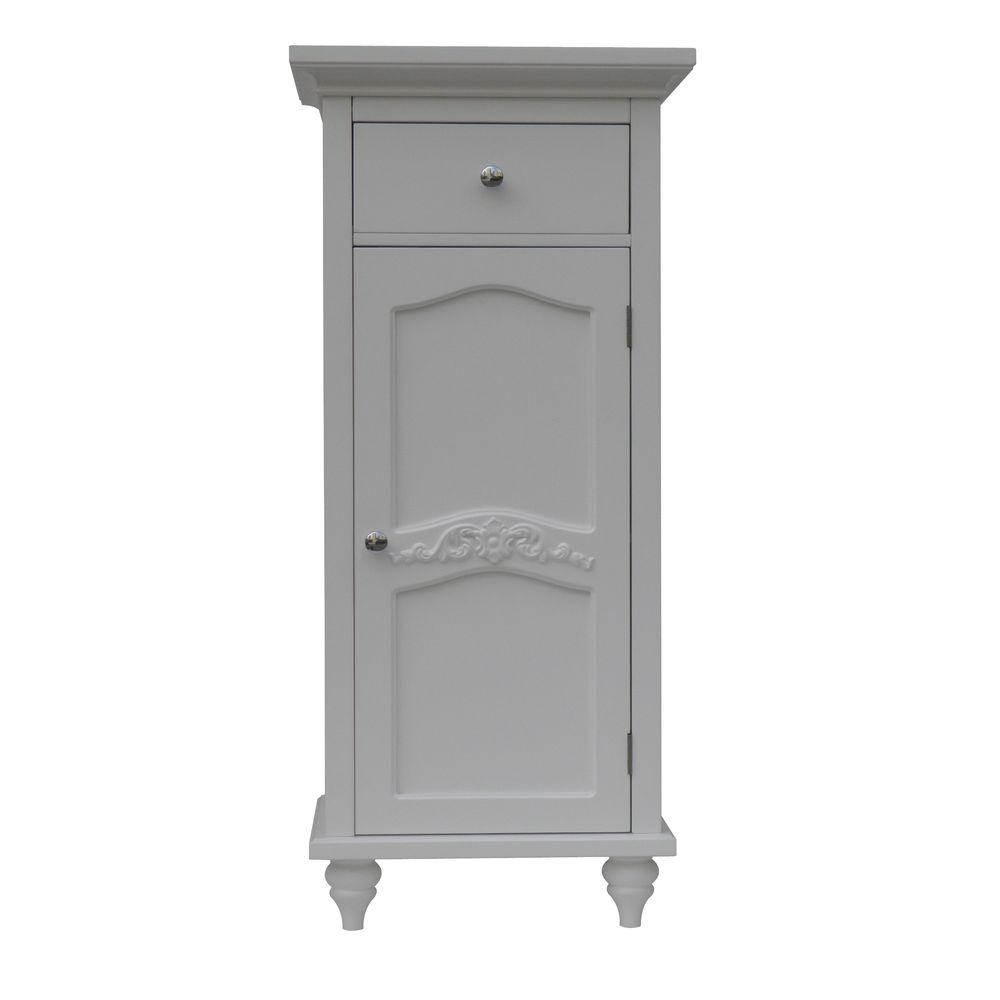 Elegant Home Fashions Venice 36 in. H x 16 in. W x 13-3/4 in. D Floor Cabinet in White
