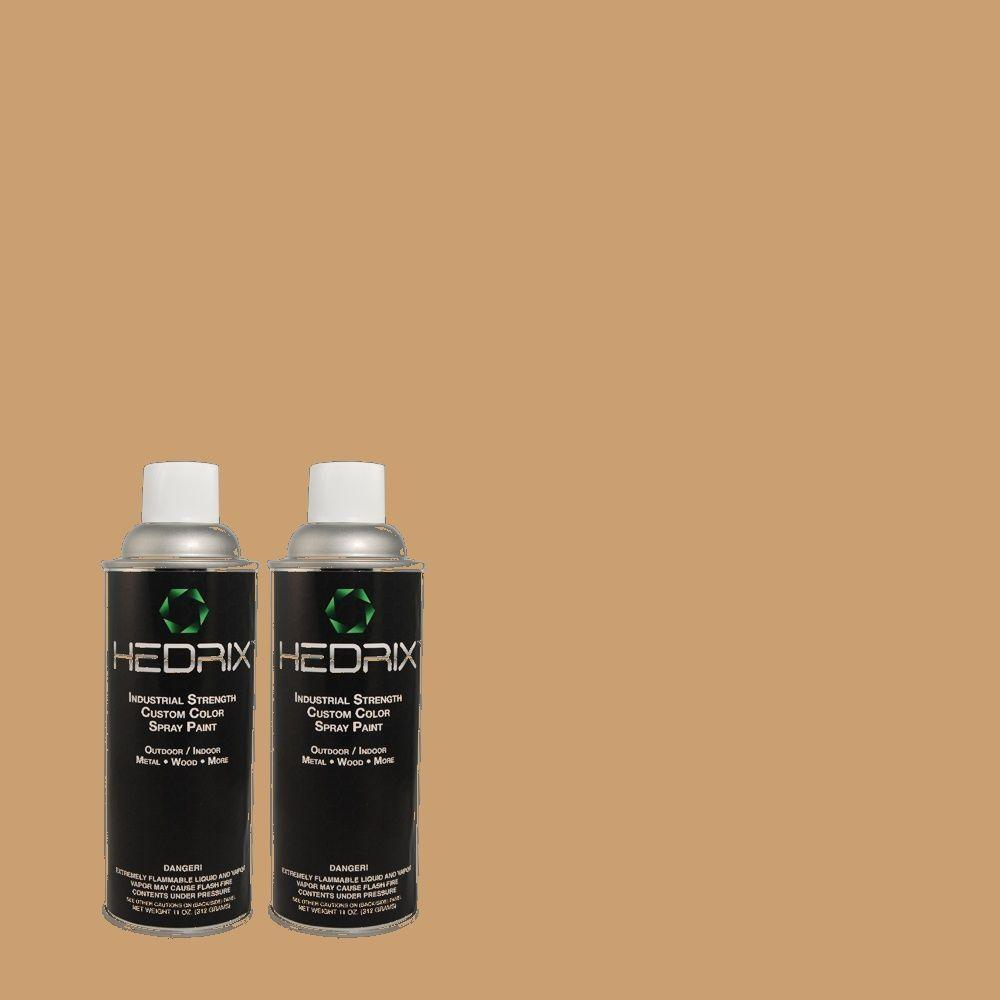Hedrix 11 oz. Match of PPU4-6 Teatime Gloss Custom Spray Paint (8-Pack)