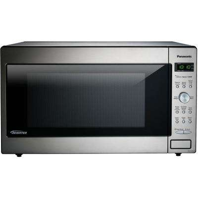 2.2 cu. ft. Countertop Microwave in Stainless Steel Built in Capable with Sensor Cooking and Inverter Technology