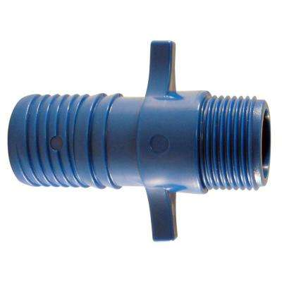 1 in. Blue Twister Polypropylene Insert x 3/4 in. MPT