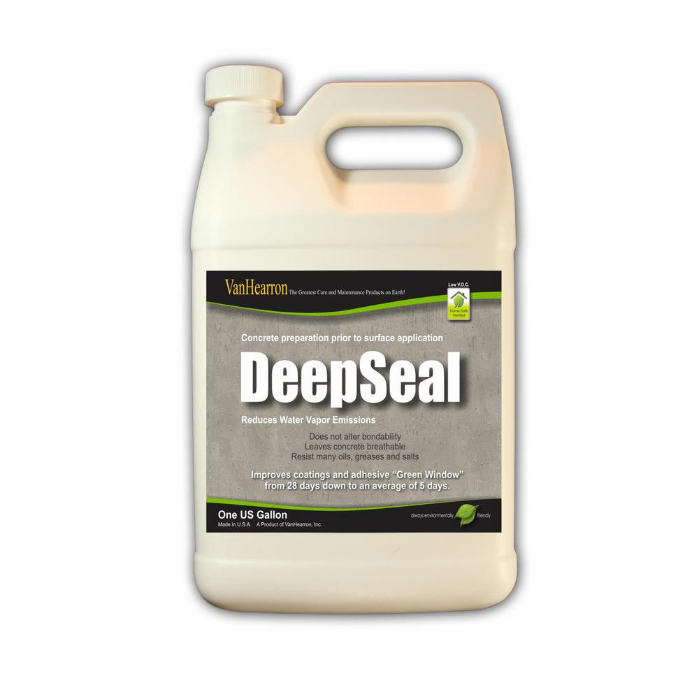 Deep Seal 1 Gal Natural Look Concrete Moisture Barrier And Densifier With Penetrating Surfactant Technology Ds01gal The Home Depot