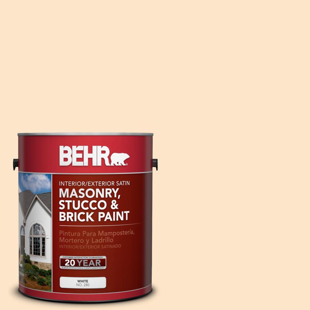 1 gal. #P230-2 Sour Tarts Satin Interior/Exterior Masonry, Stucco and Brick Paint