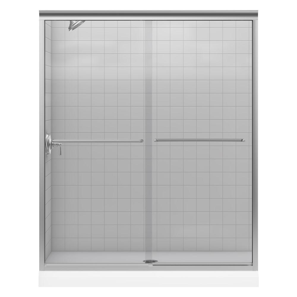 Kohler Fluence 59 58 In X 55 34 In Semi Frameless Sliding Bath