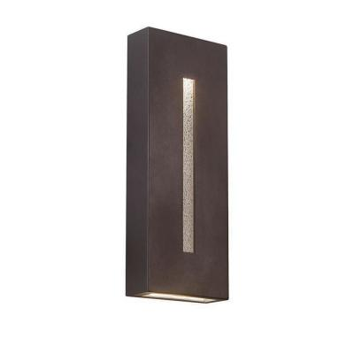 Tao 18 in. Bronze Integrated LED Outdoor Wall Sconce, 3000K
