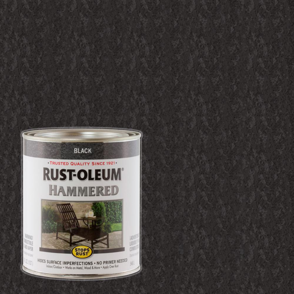 1 qt. Black Hammered Rust Preventive Paint