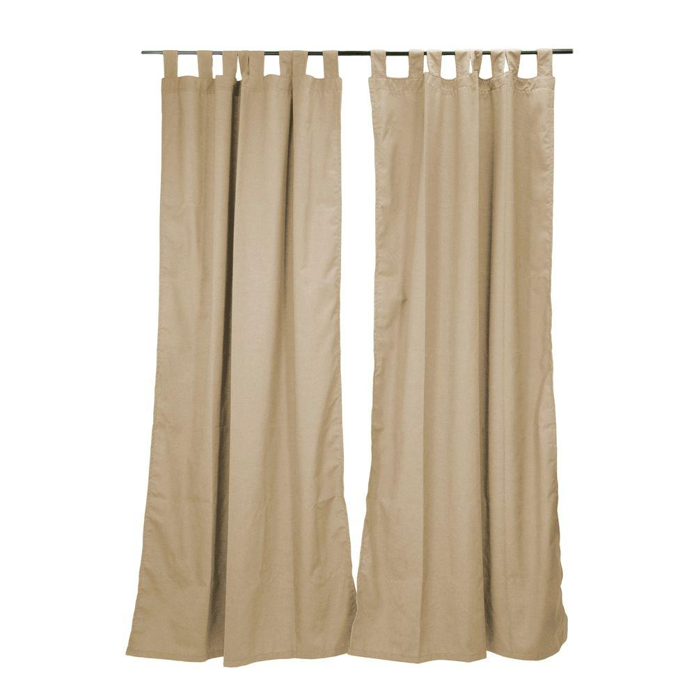 Spectrum Sand Outdoor Tab Top Curtain Panel