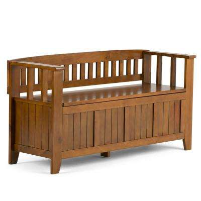 Acadian Light Avalon Brown Storage Bench