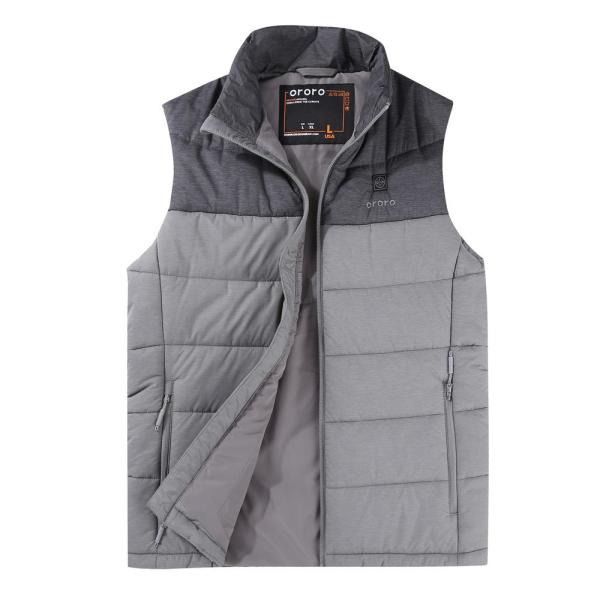Men's Large 7.4-Volt Lithium-Ion Gray Lightweight Heated Vest with One 5.2 Ah Battery and Charger