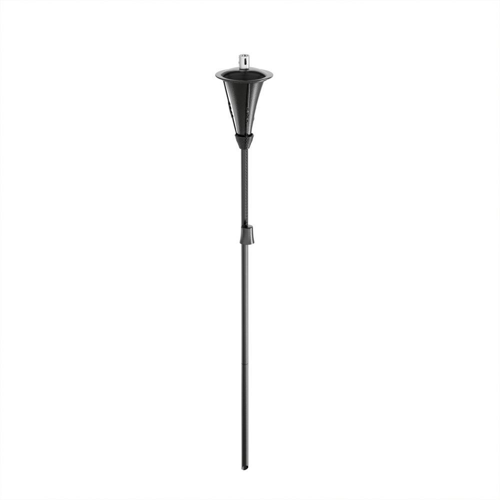 pure garden 45 in. adjustable height metal torch lamp