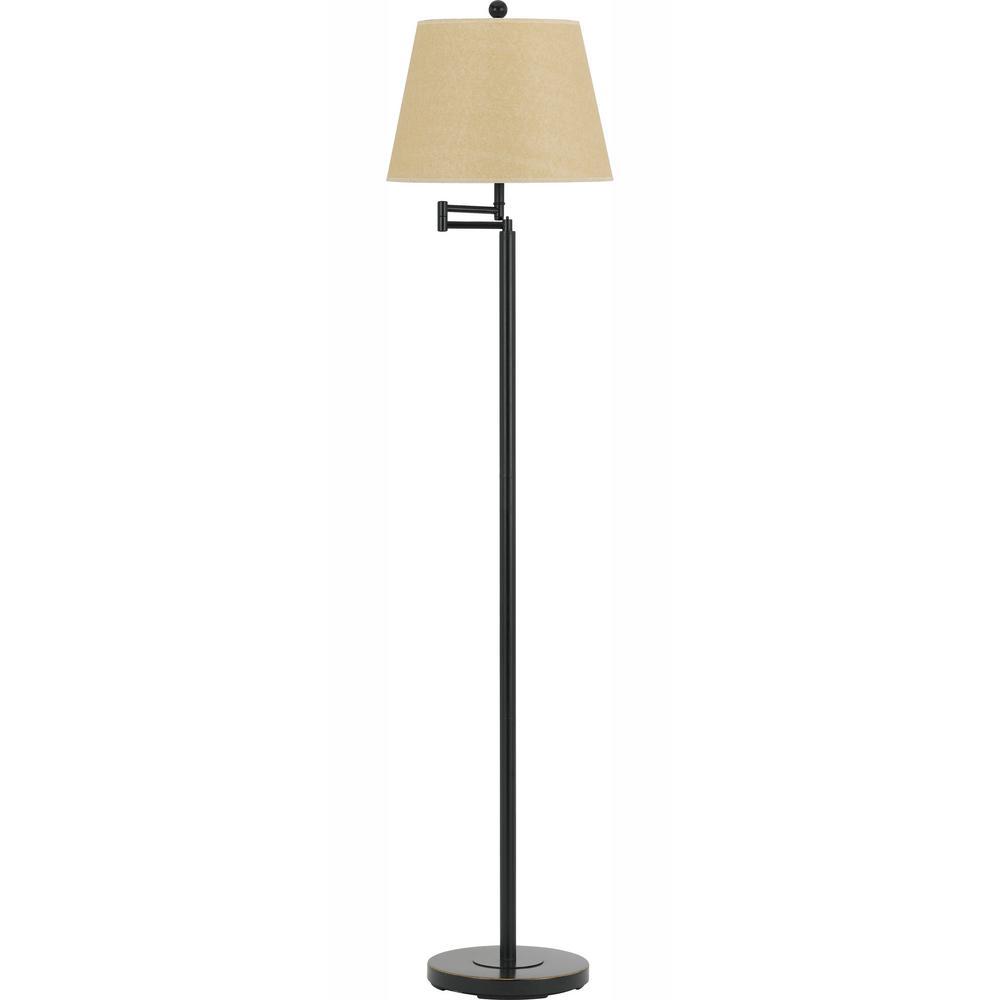 60 in. Andros Swing Arm Floor Lamp in Dark Bronze