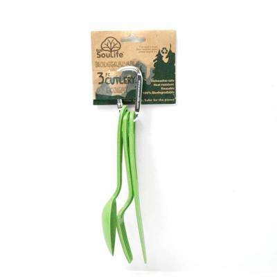 Bamboo 9-Piece Green Cutlery