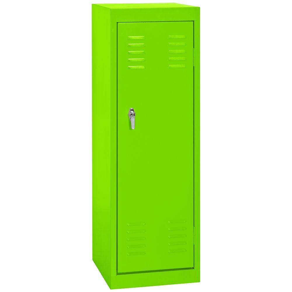 Sandusky 15 in. W x 15 in. D x 48 in. H Single Tier Welded Steel Locker in Electric Green