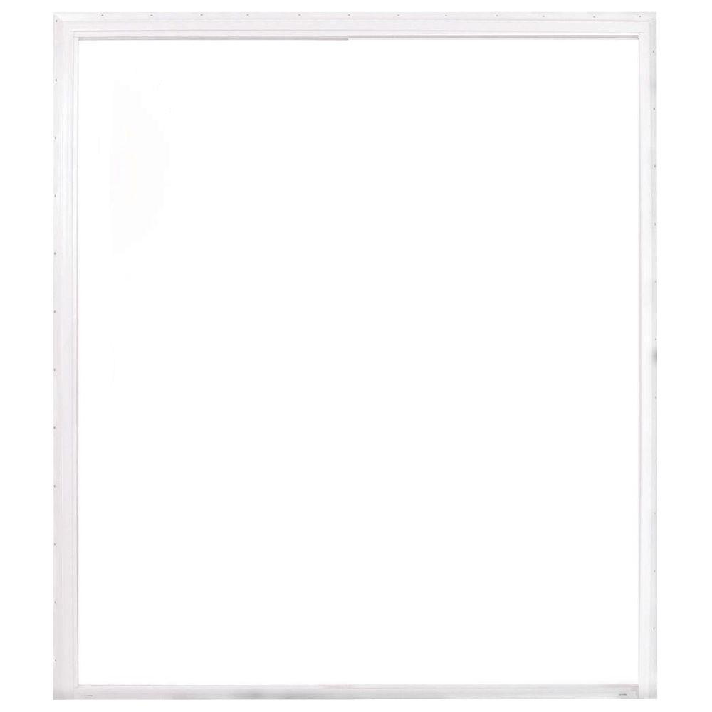 American Craftsman 72 in. x 80 in. 50 Series White Vinyl Sliding Patio Door with Buck Frame, Universal Handing
