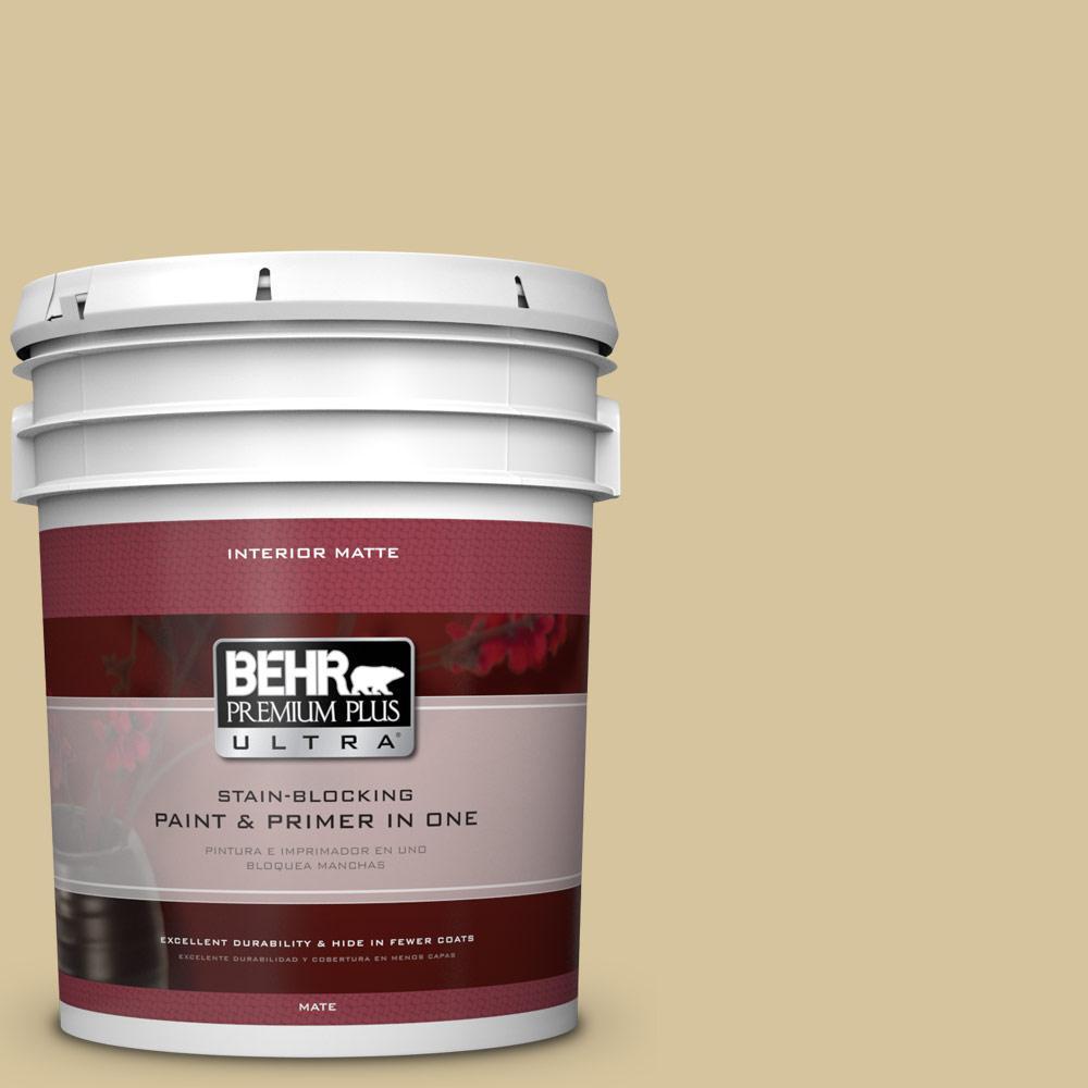 BEHR Premium Plus Ultra Home Decorators Collection 5 gal. #HDC-NT-02 White Oak Flat/Matte Interior Paint