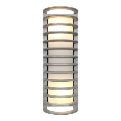 Bermuda 6 in. 2-Light Satin Outdoor Wall Mount Sconce