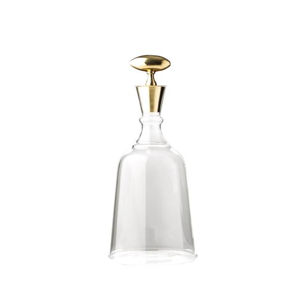 Large Chalet Decanter with Brass Top